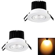 YouOkLight® 2PCS 7W 1xCOB 650LM 3000K  Warm White LED Recessed Ceiling Light (AC 110V/220V)