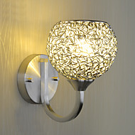 Modern Simplicity Wall Sconce Metal Base Cap Dining Room / Study Room/Office / Hallway Wall Lamps Easy Installation