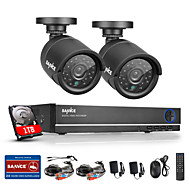 SANNCE® 4CH 720P AHD Vedio DVR CCTV Home Surveillance Security Camera System with 1TB HDD