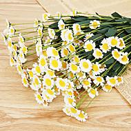 margaridas de seda flores artificiais flores do casamento multicolor 1pc opcional / set