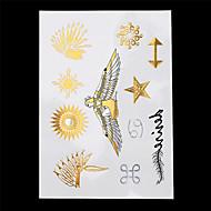 7pcs Gold-Silber-temporäre Tätowierung für sexy Frauen Halskette Kette Schmuck totem temporäre Tätowierung Aufkleber schicken