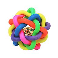 Zabawka dla kota Zabawka dla psa Zabawki dla zwierząt Owalne Zabawki do żucia Dzwonkowy Piłka Nobbly Wobbly Gumowy Multicolor