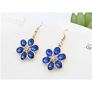 Mix Colors Rhinestone Beautiful Flowers Stud Earrings Vintage Women Fashion Brand Jewelry Bohemian
