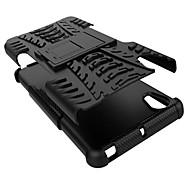 PC +シリコーンシールドは、ソニーXPERIA X耐衝撃カバーケースシェル(アソートカラー)用の丈夫なタイヤケースをスタンド