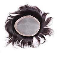 """pánské tupé 6 """"x8"""" lidské vlasy zavírače vlasových pánské vlasy systémy kusy mono základní příčesek"""