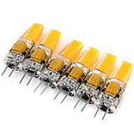 6 pcs G4 3W COB 180 lm Warm White / Cool White Decorative LED Bi-pin Lights DC 12 / AC 12 V