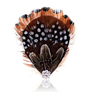 Summer jewelry vintage feather brooch for women