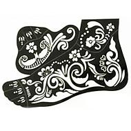 Stencils de Tatuagem TemporáriaAdulto / Adolescente- dePVC-Preta-17*30*0.21