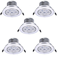 5pcs HRY® 7W 7LEDS 750LM Warm/Cool White Color LED Receseed Lights Ceiling Lights(85-265V)