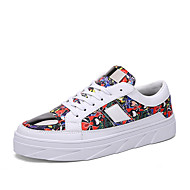 Men's Shoes Outdoor / Office & Career/Party & Evening/Athletic/ Dress / Casual Synthetic Fashion Sneakers Black/White