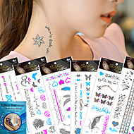 7Pcs/Lot =6pcs temporary tattoos +1pcs cleansing wipes-Autres-Multicolore-Motif-21*10.5CM- enPapier-Tatouages Autocollants-kinghorse-