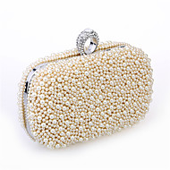 Women Imitation Pearl / Satin Casual Clutch Shoulder Bag / Clutch / Evening Bag-White / Beige / Champagne
