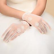 Polslengte Vingertoppen Handschoen Nylon Bruidshandschoenen / Feest/uitgaanshandschoenen Lente / Herfst / Winter Strik