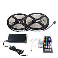 z®zdm impermeável 2 x 5m 150x5050 rgb LED SMD luz de tira e um controlador remoto 44key (AC110-240V)