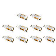 5W G4 Lâmpadas Espiga T 10 SMD 5730 480 lm Branco Quente / Branco Frio DC 12 V 10 pçs