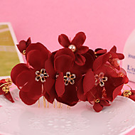 Women's / Flower Girl's Alloy / Fabric Headpiece-Wedding / Special Occasion Hair Combs / Flowers 1 Piece