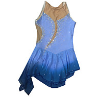 Ice Skating Dress Women's Sleeveless Skating Dresses Figure Skating Dress Elastane Blue Skating Wear Outdoor clothing Fashion Sports