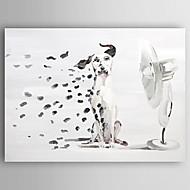 Handgemalte TierModern Ein Panel Leinwand Hang-Ölgemälde For Haus Dekoration