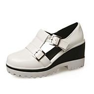 Women's Shoes Wedges Heel/Platform/Round Toe Heels Dress/Casual Black/Blue/White/Gold