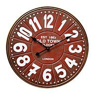 estilo europeu vintag relógio de parede mute madeira