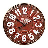 European Style Vintag Wooden Mute Wall Clock