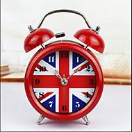 England Flag Retro Needle Table Alarm Clock Metal Bell Ring Mute Birthday Gift