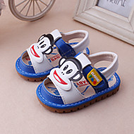 Boy's / Girl's Sandals Spring / Summer Slingback Leather Dress / Casual Blue / Red