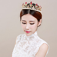 Bride's Golden Crystal Forehead Wedding  Hair Accessories  Crown Tiaras 1 PC