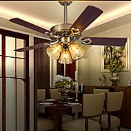MAISHANG® Retro Bar Iron Ceiling Fans Lamp 3 Light For Dinning Room