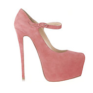 Women's Shoes Mary Janes 16CM High Heels Fashion Wedding / Office & Career / Party & Evening Shoes Black / Pink