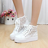 Women's Shoes Libo New Style Platform Casual Comfort Breathable Canvas Fashion Sneakers Black / Pink / White