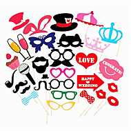 31PCS Card Paper Photo Booth Props Party Fun Favor