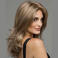 las mujeres peluca de pelo sintético de la onda del cuerpo castaño largo
