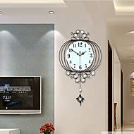 מצחיק / פנס / אחרים מודרני / עכשווי שעון קיר,פרחוניים/בוטניים / נופי / חתונה / משפחה זכוכית / מתכת 63cm x 38cm( 25in x 15in )
