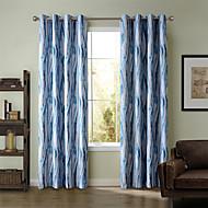 Chadmade SOFITEL Heat Transfer Print  Stripe  Pattern - Oil Paiting Feeling- Blue