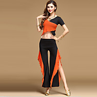 Belly Dance Outfits Women's Performance Tulle Draped 2 Pieces 8 Pcs