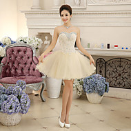 Cocktail Party Dress Ball Gown Sweetheart Short/Mini Chiffon / Lace