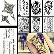 8db divatos toll levél virág váll diy vízálló ideiglenes tetoválás a nők férfiak body art tattoo matrica tervezés