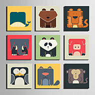 E-HOME® Stretched Canvas Art Geometry Of Animal Series Decoration Painting MINI SIZE One Pcs