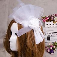 Capacete Fascinador / Véus de Rede Casamento / Ocasião Especial Cetim Mulheres Casamento / Ocasião Especial 1 Peça