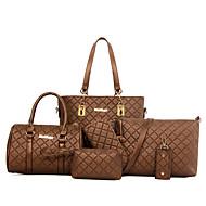 Women PU Barrel Shoulder Bag / Tote / Satchel-White / Blue / Gold / Brown / Black