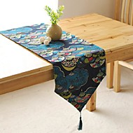 Japanese Pattern Table Runner Fashion Hotsale High-grade Cotton Linen Table Top Deco