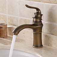 Centerset Single Handle un foro in Rame antico Lavandino rubinetto del bagno
