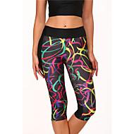 Yoga broek Kleding Onderlichaam / 3/4 Tights / Cropped Ademend / Hoge Ademende Werking (>15,001g) / Sneldrogend / Compressie Hoog Rekbaar