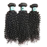 3 Bundles Brazilian Virgin Hair Curly Hair Extensions Unprocessed Human Hair Weave Bundles
