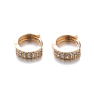 Sjeweler Lady Casual Gold Plated Zircon Hoop Earrings