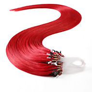 neitsi® 20inch 50s / erä 50g mikro rengas silmukat ihmisen hiusten pidennykset renkaat hiuksista