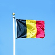 Belgium Flag Banner 90*150Cm Hanging National Flag Belgium Home Decoration Belgium Flag (Without flagpole)