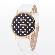 Women's European Style Fashion Cute Polka Dot Leather Wrist Watch Cool Watches Unique Watches