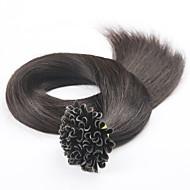 """18 """"20"""" 22"""" do prego ponta brasileira queratina do cabelo u extensões de cabelo humano rectas pré-ligado da extensão do cabelo"""
